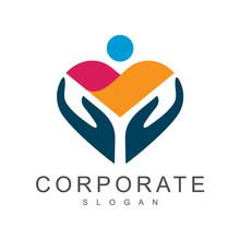 Kids Care Logo Design Template, Mother Care Symbol