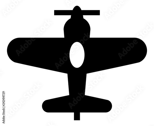 Fényképezés  Single Engine Propeller Plane Icon