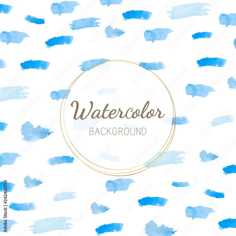 Poster Pastel Blue Watercolor Background Vector Nikkel Art