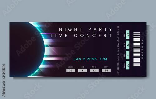 Live concert ticket Canvas Print