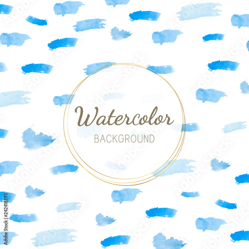 Foto op Plexiglas Hemel Pastel blue watercolor background vector