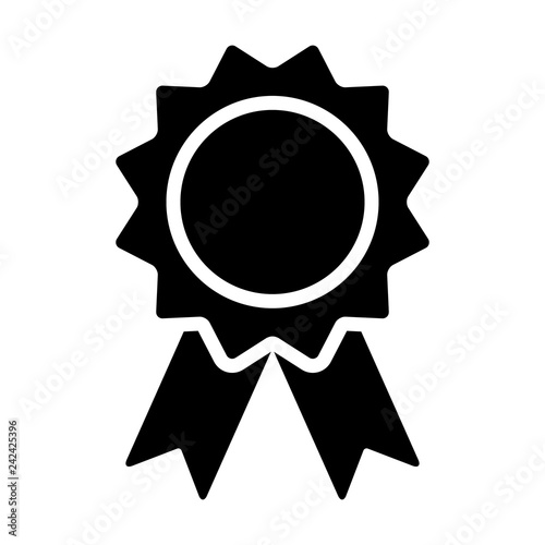 Foto Award badge or winning prize ribbon flat vector icon for apps and websites