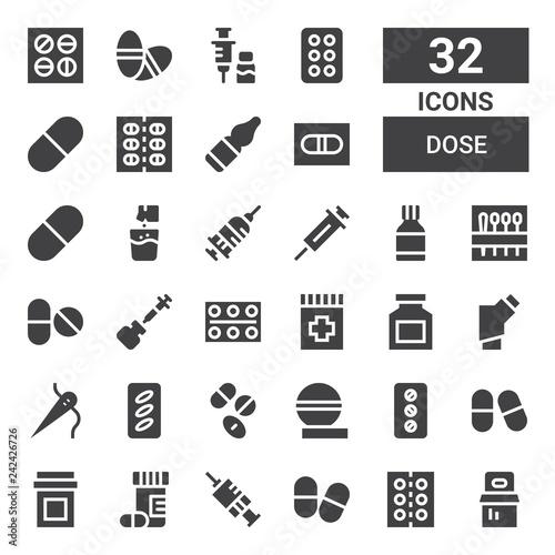 Fotografia  dose icon set