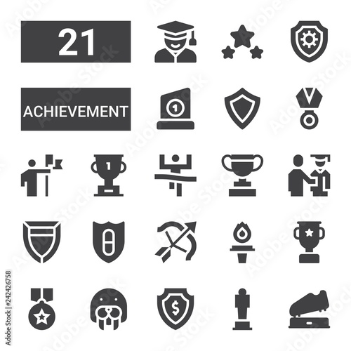 Fotografia  achievement icon set
