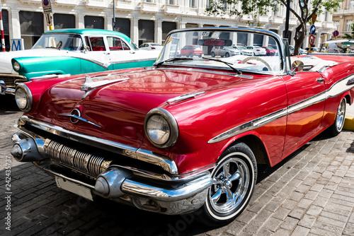 Türaufkleber Autos aus Kuba Oldtimer Cabrio in Havanna