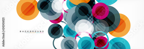 Obraz Circle composition abstract background - fototapety do salonu