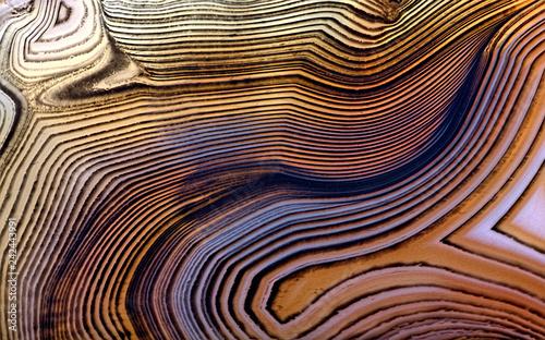 Türaufkleber Makrofotografie contrast orange agate structure