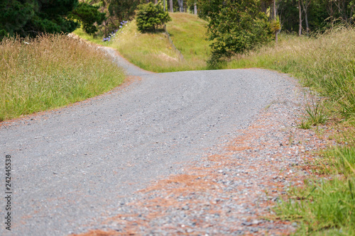 Poster Light pink Country gravel road