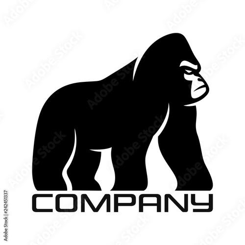 Fototapeta premium Sylwetka logo goryla