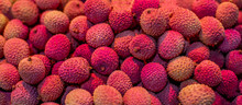 Fresh  Lychees Background. Lychee Fruit Texture