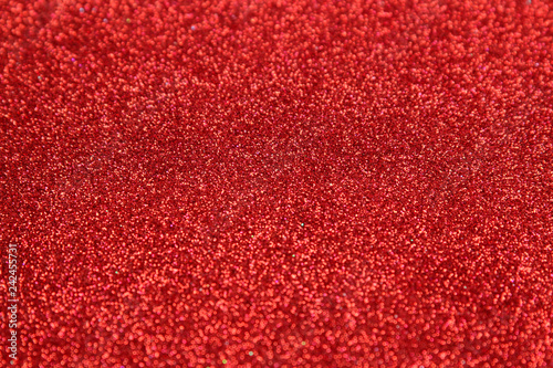 Beautiful texture of red sparkles. glitter background. shiny texture - 242455731