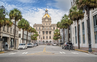 City Hall in Savannah, Georgia GA