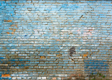 Old Grungy Blue Brick Wall Tex...