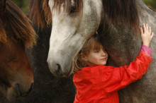 Little Girl With Foals
