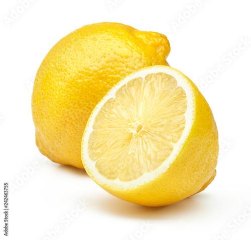 Foto lemon fruit isolated on white background
