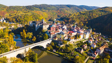 Aerial View Of Medieval Town L...