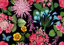 Floral Seamless Pattern. Aster...
