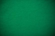 Empty Green Casino Poker Table Cloth With Spotlight
