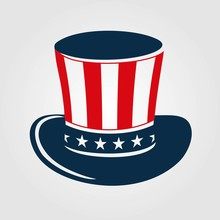 Uncle Sam's Hat Icon Isolated ...