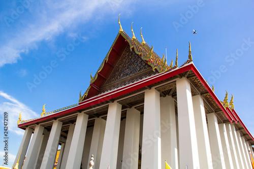 Deurstickers Bedehuis Wat Pho or Temple of the Reclining Buddha in Bangkok