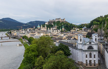 Salzburg, Austria -  Fourth-largest City Of The Country, Birthplace Of Wolfgang Amadeus Mozart, Salzburg Is A UNESCO World Heritage Site Due To Its Wonderful Baroque Architecture