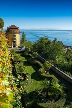 New Castle And Castle Terrace, Meersburg, Lake Constance, Baden-Wurttemberg, Germany, Europe