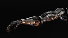 Futuristic Cyborg Prosthetic Arms With Strong Muscular Structure