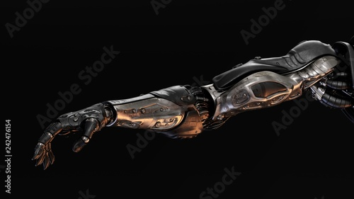 Photographie Futuristic cyborg prosthetic arms with strong muscular structure
