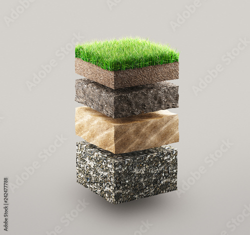 Ground layers Wallpaper Mural