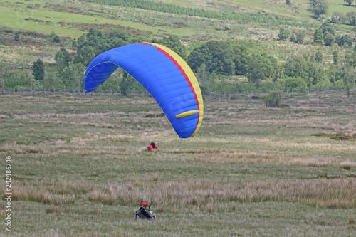 Paraglider landing wing