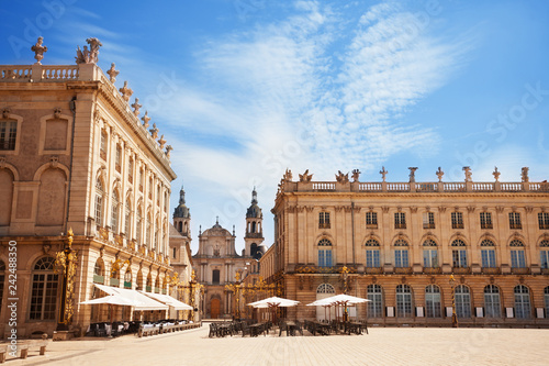 Place Stanislas and City Hall buildings, France