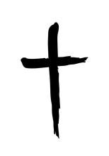 Hand Drawn Christian Cross Sym...