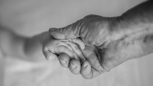 Old Grandmother Hands Holding ...