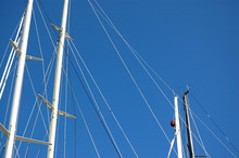 Masts Of Sailing Boats, With A...