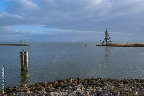 Foto op Canvas Poort Hafeneinfahrt in Hoorn/NL