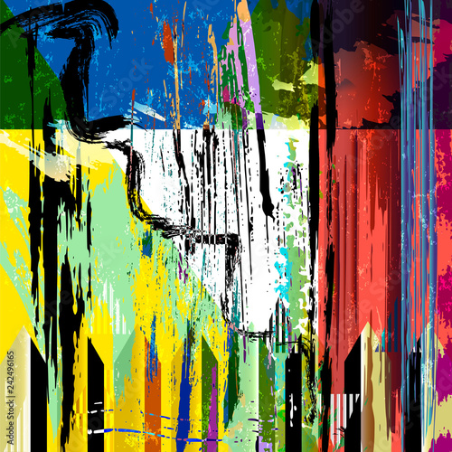 abstract geometric background composition, with triangles, strokes and splashes