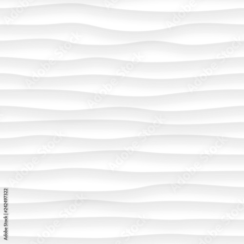 Fotografie, Obraz  Abstract wavy seamless pattern
