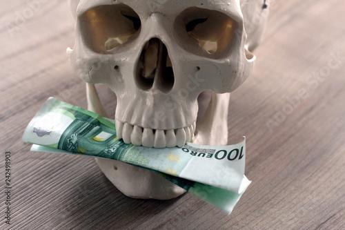 Fotografie, Tablou  Totes Geld