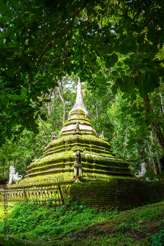 Tuinposter Asia land Wat Palad temple stupa, Chiang Mai, Thailand