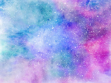 Unicorn Background With Rainbow Mesh. Fantasy Gradient Backdrop