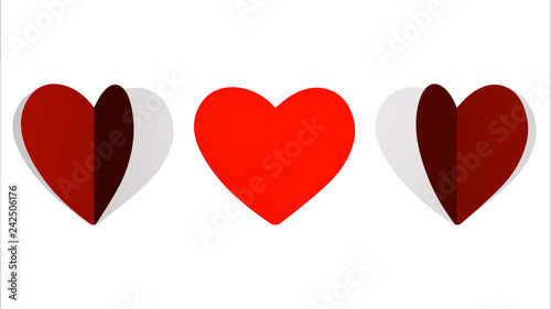 Fotografie, Obraz  animation loop paper hearts, footage ideal for valentine's day