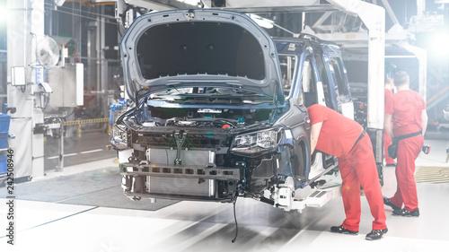 Fototapeta  Produkcja Samochodów - Przemysł - Linia produkcyjna