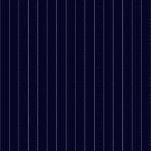 Navy Blue And White Pinstripes Seamless Pattern - Classic Clean White Pinstripes On Navy Blue Background Seamless Pattern