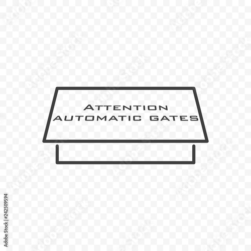 Photo Icon automatic gate. Vector on transparent background.