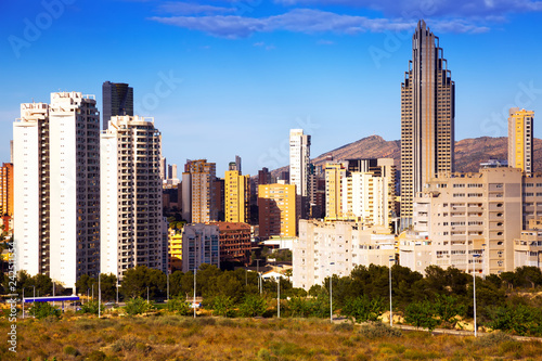 Deurstickers Europa residential district at new european city. Benidorm