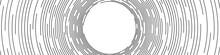 Abstract Black Concentric Roun...