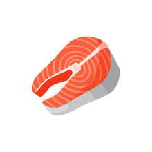 Red Trout Illustration. Red, Fish, Product. Food Concept. Vector Illustration Can Be Used For Topics Like Cuisine, Market Place