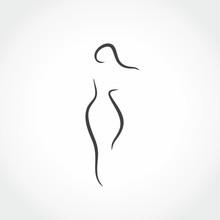 Woman Sexy Silhouette Icon Vector Illustration