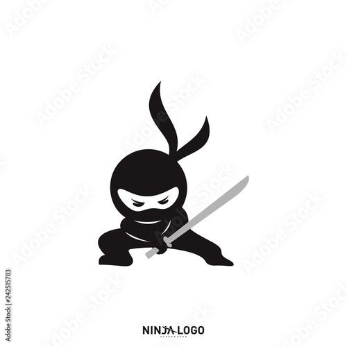 Fotografía Ninja Warrior logo Design Vector Template