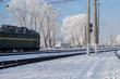 train rides winter landscape